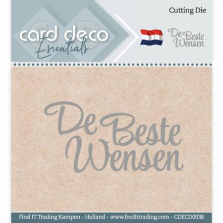 Card Deco snijmal De Beste Wensen CDECD0038 (Locatie: k155)