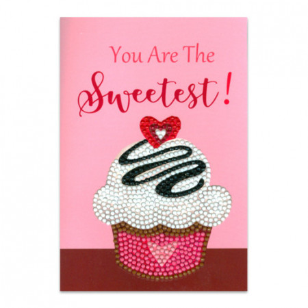 Craft Artist Diamond Art Card Kits - Cup Cake Sweetest (Locatie: 2576)