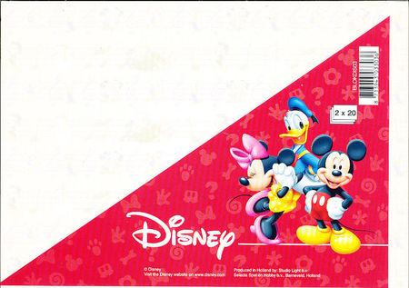 Disney A5 Kartonblokken 2x 20 vel BLOKDIS03