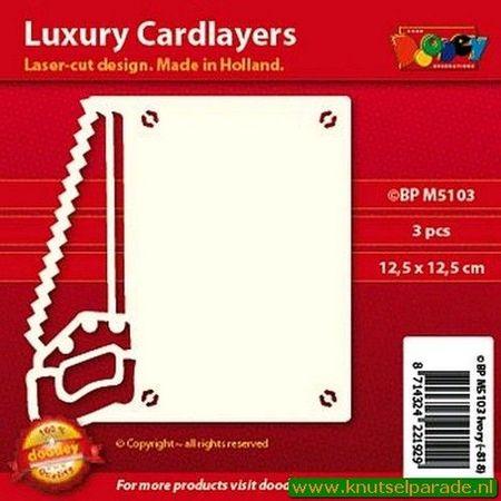 Doodey oplegkaarten zaag 3 stuks ivoor BPM5103 (Locatie: K108)