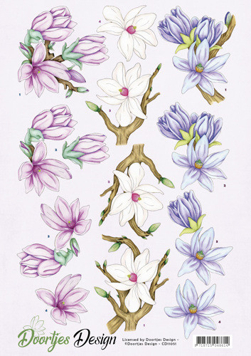 Doortjes Design knipvel bloemen CD11051 (Locatie: 4838)