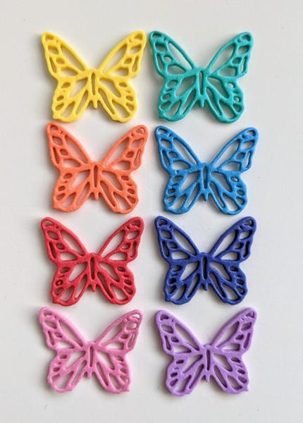 Foam figuren vlinders, 8 stuks, grootte: 3x3cm