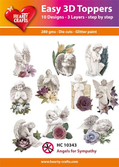 Hearty Crafts Easy 3D Toppers - Angels for Sympathy HC10343 (Locatie: K2)