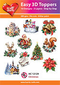 Hearty Crafts Easy 3D Toppers Christmas HC12129
