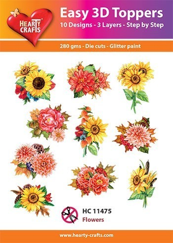 Hearty Crafts Easy 3D Toppers Flowers HC11475 (Locatie: K2)
