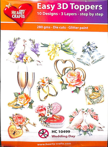 Hearty Crafts Easy 3D Toppers Wedding Day HC10499 (Locatie: K2)