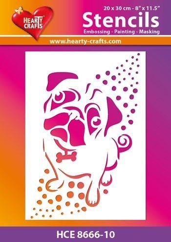 Hearty Crafts Stencil 3D Hondje HCE8666-10 (Locatie: 2526)