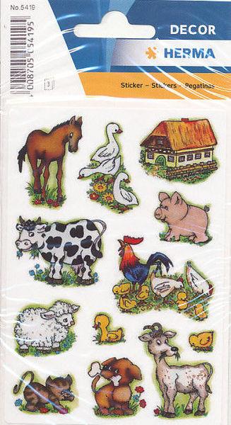 Herma stickers boerderijdieren 3 vel 5419 (Locatie: U183)