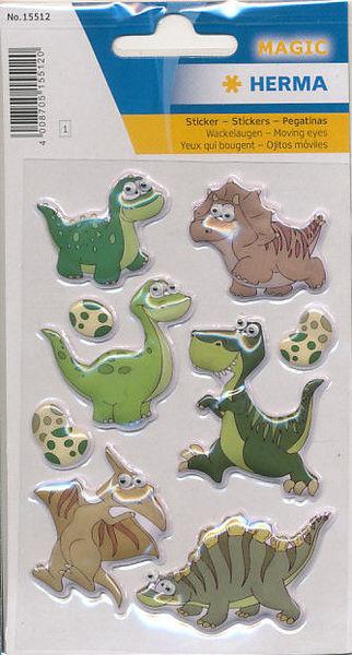 Herma stickers dino kids wiebelogen 1 vel 15512 (Locatie: U193)