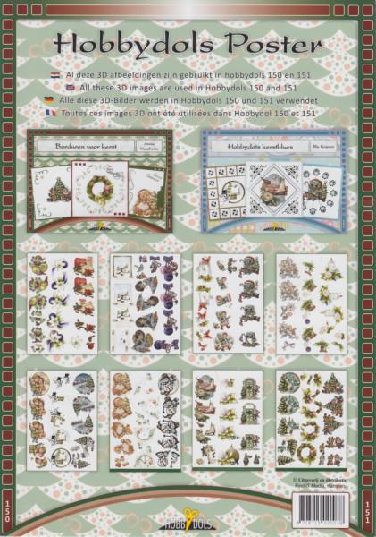 Hobbydols poster nr. 150 en 151