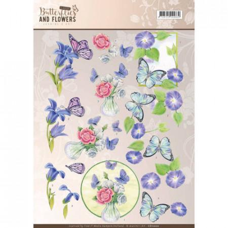 Jeanine Art knipvel vlinders en bloemen CD11000 (Locatie: 2418)