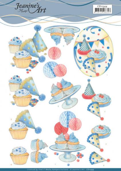 Jeanine's Art knipvel verjaardag CD11344 (Locatie: 1588)