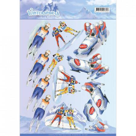 Jeanine's Art knipvel winter sport CD11028 (Locatie: 4542)