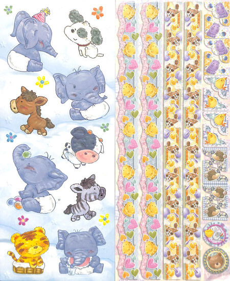 Joy!Crafts Sparkling Embossed stickers Baby 6013/0024 (Locatie: 1RA1)