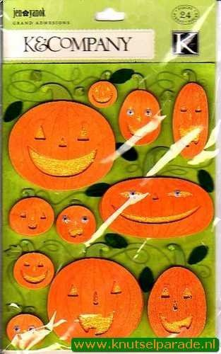 K&Company scrapbook sticker set halloween 546196 (Locatie: N204)