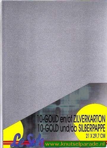 Le Suh zilver karton A4 per vel 412602 (Locatie: s1)