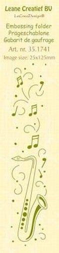 Leane Creatief embossing folder Saxofoon 35.1741 (Locatie: K1)