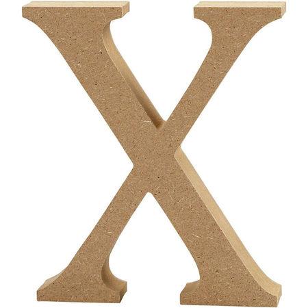 Letter X, hoogte 13 cm, dikte 2 cm, MDF, 1stuk (Locatie: KB)