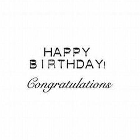 Marianne Design Clearstamp Happy Birthday/Congratulations CS0883 (Locatie: NN023)