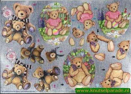 Metallic knipvel teddybeer 111740310 (Locatie: 2449)