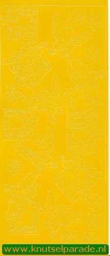 Mireille stickervel geel vlinder nr. 0653 (Locatie: A114 )