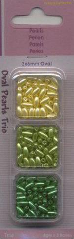 Parelkraaltjes ovaal 3x6 mm 12100-0002 (Locatie: K3)