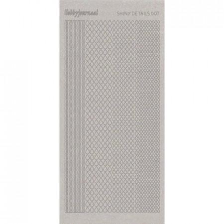 Shiny details stickervel glitter zilver SDS007TZ (Locatie: D47)
