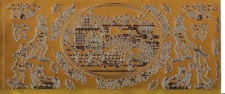 Starform sticker goud kerst 967 (Locatie: HH158 )