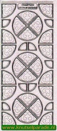 Starform sticker transparant glitter zilver 3198 (Locatie: HH140)