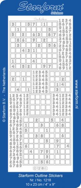 Starform stickervel sudoku zilver 1218 (Locatie: t067)