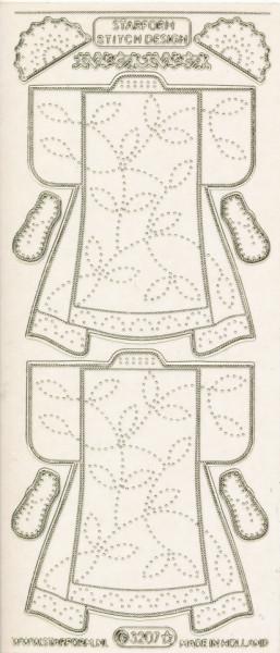 Starform stickervel transparant goud kleding 3207 (Locatie: u078)