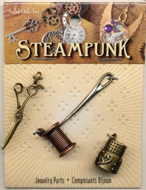 Steampunk bedels naaigerei 4 stuks STEAM013 (Locatie: K3)