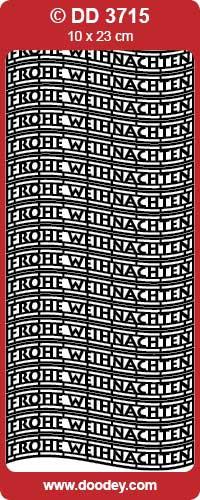 Sticker zilver Frohe Weihnachten DD3715 (Locatie: NN098)