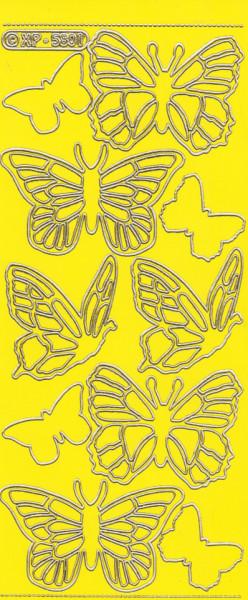 Stickervel geel nr. XP 5801 (Locatie: G226)