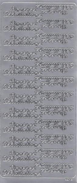 Stickervel met franse teksten zilver 4613 (Locatie: A156)