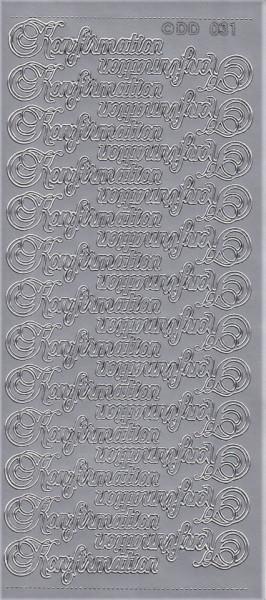 Stickervel zilver Konfirmation DD031 (Locatie: B061)
