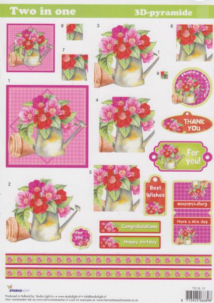 Studio Light knipvel bloemen en labels TIOSL12 (Locatie: 2664)