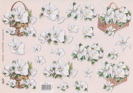 TBZ knipvel glitter bloemen 579179 (Locatie: 2683)