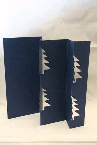 Van Dool, 3x donkerblauwe, kerstboom-kaart, 3x witte envelop (Locatie: GG052 )