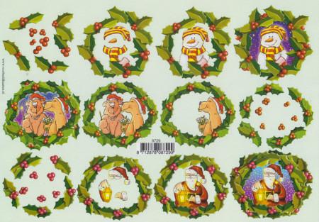 Voorbeeldkaarten knipvel kerst 8729 (Locatie: 0312)