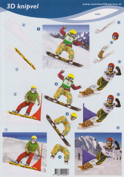 Voorbeeldkaarten knipvel sport 2402 (Locatie: 1159)