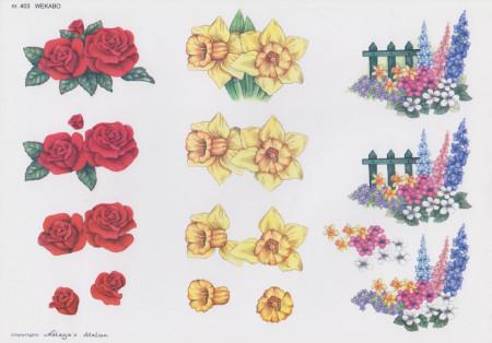 Wekabo knipvel bloemen nr. 403 (Locatie: 2635)