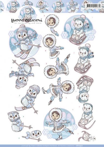 Yvonne Creations knipvel winter CD10977 (Locatie: 1174)