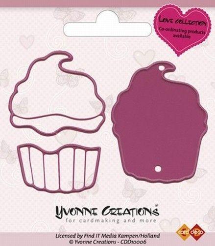 Yvonne Creations snij- embosmal Cupcake CDD10006 (Locatie: Q011)