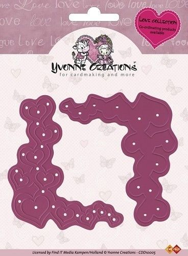 Yvonne Creations snij- en embosmal Heart Corner CDD10005 (Locatie: Q014)