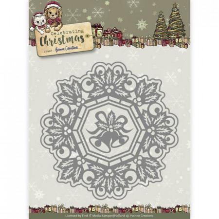 Yvonne Creations snijmal Jingle Bells Circle Frame YCD10113 (Locatie: k86)