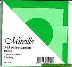 Mireille vierkante kaart groen 3 stuks 2110 (Locatie: D89 )