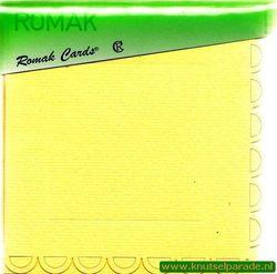 Romak dubbele kaart vierkant schulp en envelop geel 3 stuks K4 318 67 (Locatie: H293 )