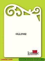 Lomiac oplegkaarten krul bovenkant A6 5 stuks ivoor LL2102 (Locatie: K114)