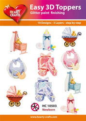 Hearty Crafts Easy 3D Toppers - Newborn HC10503 (Locatie: K2)